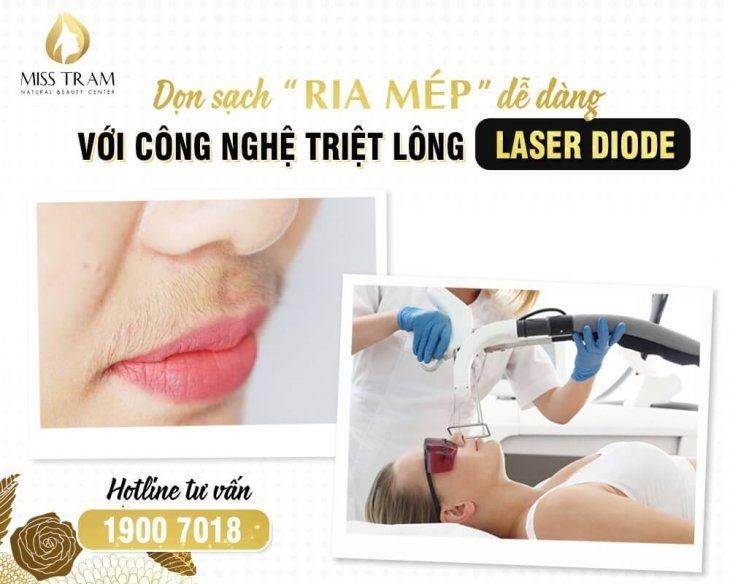 Phương Pháp Triệt Ria Mép Với Công Nghệ Triệt Lông Laser DioDe