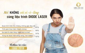 Triệt Lông An Toàn Với Liệu Trình DioDe Laser