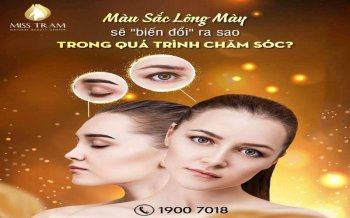Changes in Eyebrow Color During Care
