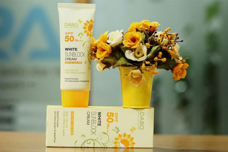 Review Kem Chống Nắng Dưỡng Da Dabo White Sunblock Cream SPF 50 PA+++