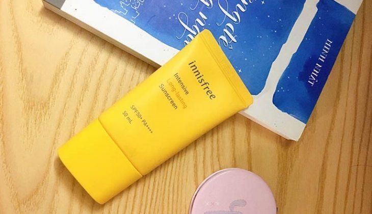 Review Kem Chống Nắng Lâu Trôi Innisfree Intensive Long Lasting Sunscreen SPF50+